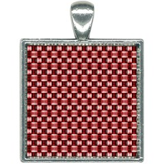 Red Kalider Square Necklace by Sparkle