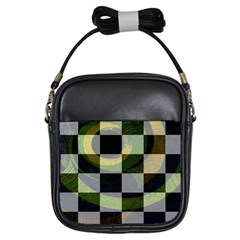 Digital Checkboard Girls Sling Bag by Sparkle