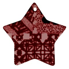 Kelani Star Ornament (two Sides) by SEVENink