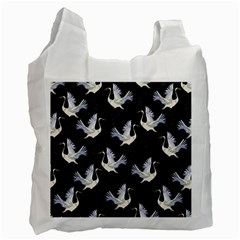 Crane Pattern Recycle Bag (two Side) by Wegoenart