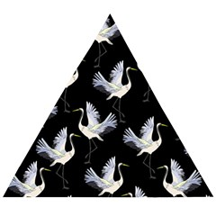 Crane Pattern Wooden Puzzle Triangle