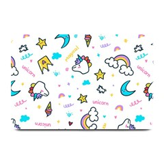 Unicorns Rainbows Seamless Pattern Plate Mats
