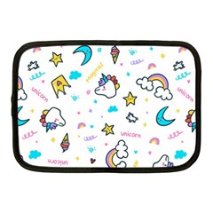 Unicorns Rainbows Seamless Pattern Netbook Case (medium)