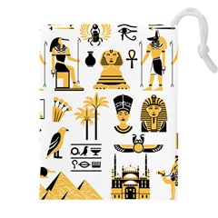 Egypt Symbols Decorative Icons Set Drawstring Pouch (4xl)