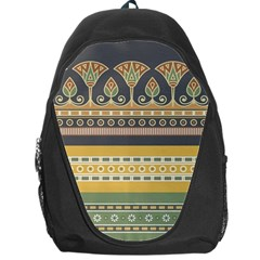 Seamless Pattern Egyptian Ornament With Lotus Flower Backpack Bag