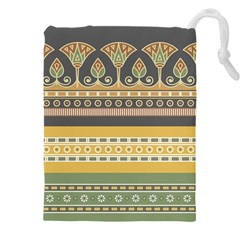 Seamless Pattern Egyptian Ornament With Lotus Flower Drawstring Pouch (3xl)
