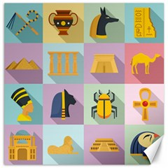 Egypt Icons Set Flat Style Canvas 12  X 12  by Wegoenart