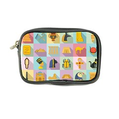 Egypt Icons Set Flat Style Coin Purse