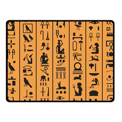 Egyptian Hieroglyphs Ancient Egypt Letters Papyrus Background Vector Old Egyptian Hieroglyph Writing Fleece Blanket (small)