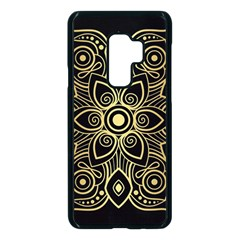 Luxury Golden Mandala Background Samsung Galaxy S9 Plus Seamless Case(black)