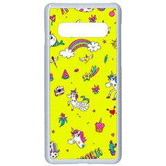 Pattern Unicorns Mermaids Horses Girlish Things Samsung Galaxy S10 Seamless Case(white)