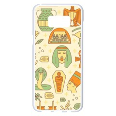 Egypt Seamless Pattern Samsung Galaxy S8 Plus White Seamless Case