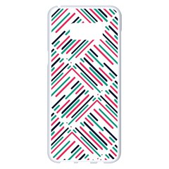 Abstract Colorful Pattern Background Samsung Galaxy S8 Plus White Seamless Case