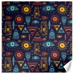 Trendy African Maya Seamless Pattern With Doodle Hand Drawn Ancient Objects Canvas 16  X 16