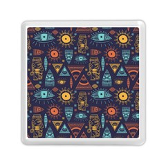 Trendy African Maya Seamless Pattern With Doodle Hand Drawn Ancient Objects Memory Card Reader (square)