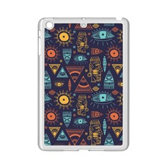 Trendy African Maya Seamless Pattern With Doodle Hand Drawn Ancient Objects Ipad Mini 2 Enamel Coated Cases