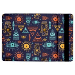 Trendy African Maya Seamless Pattern With Doodle Hand Drawn Ancient Objects Ipad Air 2 Flip