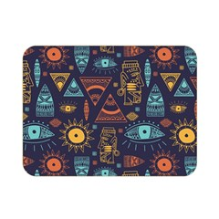 Trendy African Maya Seamless Pattern With Doodle Hand Drawn Ancient Objects Double Sided Flano Blanket (mini)
