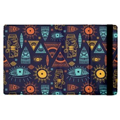 Trendy African Maya Seamless Pattern With Doodle Hand Drawn Ancient Objects Apple Ipad Mini 4 Flip Case