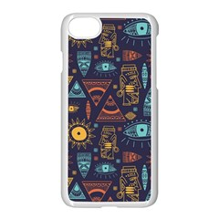 Trendy African Maya Seamless Pattern With Doodle Hand Drawn Ancient Objects Iphone 7 Seamless Case (white)