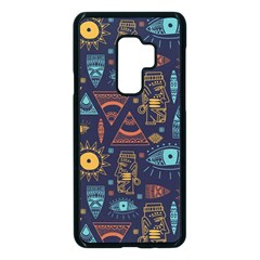 Trendy African Maya Seamless Pattern With Doodle Hand Drawn Ancient Objects Samsung Galaxy S9 Plus Seamless Case(black)
