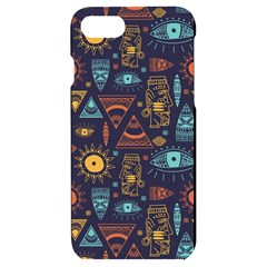Trendy African Maya Seamless Pattern With Doodle Hand Drawn Ancient Objects Iphone 7/8 Black Uv Print Case