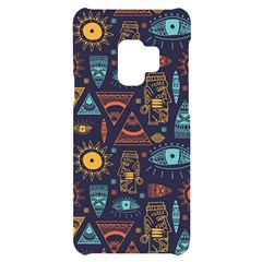 Trendy African Maya Seamless Pattern With Doodle Hand Drawn Ancient Objects Samsung S9 Black Uv Print Case