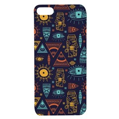 Trendy African Maya Seamless Pattern With Doodle Hand Drawn Ancient Objects Apple Iphone 7/8 Tpu Uv Case