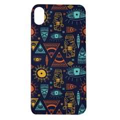 Trendy African Maya Seamless Pattern With Doodle Hand Drawn Ancient Objects Apple Iphone Xr Tpu Uv Case
