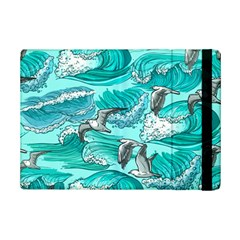 Sea Waves Seamless Pattern Ipad Mini 2 Flip Cases by Wegoenart