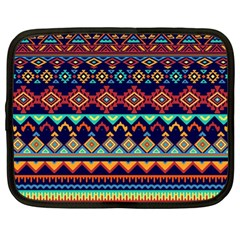 Pattern Tribal Style Netbook Case (large) by Wegoenart