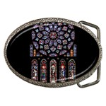 Chartres Cathedral Notre Dame De Paris Amiens Cath Stained Glass Belt Buckles Front