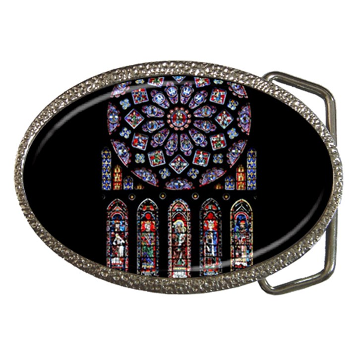 Chartres Cathedral Notre Dame De Paris Amiens Cath Stained Glass Belt Buckles