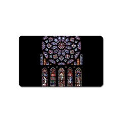Chartres Cathedral Notre Dame De Paris Amiens Cath Stained Glass Magnet (name Card) by Wegoenart