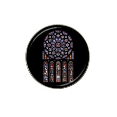 Chartres Cathedral Notre Dame De Paris Amiens Cath Stained Glass Hat Clip Ball Marker (10 Pack) by Wegoenart