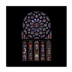 Chartres Cathedral Notre Dame De Paris Amiens Cath Stained Glass Face Towel by Wegoenart