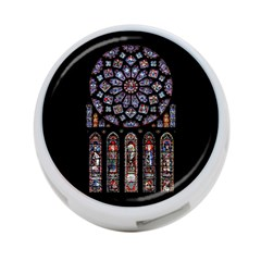 Chartres Cathedral Notre Dame De Paris Amiens Cath Stained Glass 4-port Usb Hub (two Sides)