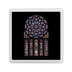 Chartres Cathedral Notre Dame De Paris Amiens Cath Stained Glass Memory Card Reader (square) by Wegoenart