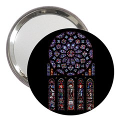 Chartres Cathedral Notre Dame De Paris Amiens Cath Stained Glass 3  Handbag Mirrors by Wegoenart