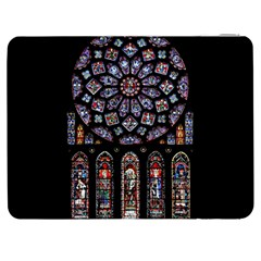 Chartres Cathedral Notre Dame De Paris Amiens Cath Stained Glass Samsung Galaxy Tab 7  P1000 Flip Case by Wegoenart