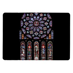 Chartres Cathedral Notre Dame De Paris Amiens Cath Stained Glass Samsung Galaxy Tab 10 1  P7500 Flip Case by Wegoenart