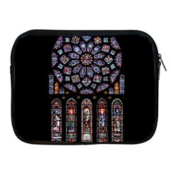 Chartres Cathedral Notre Dame De Paris Amiens Cath Stained Glass Apple Ipad 2/3/4 Zipper Cases by Wegoenart