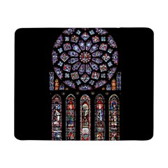 Chartres Cathedral Notre Dame De Paris Amiens Cath Stained Glass Samsung Galaxy Tab Pro 8 4  Flip Case by Wegoenart