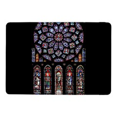 Chartres Cathedral Notre Dame De Paris Amiens Cath Stained Glass Samsung Galaxy Tab Pro 10 1  Flip Case by Wegoenart