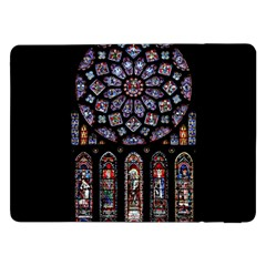 Chartres Cathedral Notre Dame De Paris Amiens Cath Stained Glass Samsung Galaxy Tab Pro 12 2  Flip Case by Wegoenart