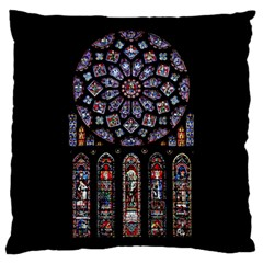 Chartres Cathedral Notre Dame De Paris Amiens Cath Stained Glass Standard Flano Cushion Case (two Sides) by Wegoenart