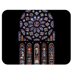 Chartres Cathedral Notre Dame De Paris Amiens Cath Stained Glass Double Sided Flano Blanket (medium)  by Wegoenart