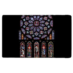 Chartres Cathedral Notre Dame De Paris Amiens Cath Stained Glass Apple Ipad Pro 12 9   Flip Case by Wegoenart