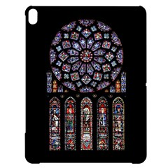 Chartres Cathedral Notre Dame De Paris Amiens Cath Stained Glass Apple Ipad Pro 12 9   Black Uv Print Case by Wegoenart