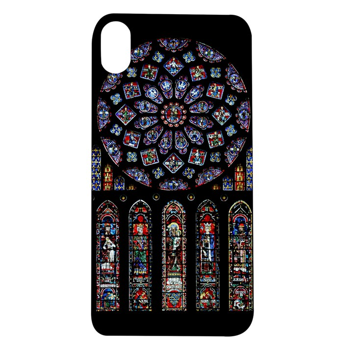 Chartres Cathedral Notre Dame De Paris Amiens Cath Stained Glass Apple iPhone XR TPU UV Case